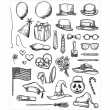 Tim Holtz® Stampers Anonymous Cling Mount Sets -- Crazy Things CMS237