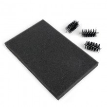 Sizzix Accessory - Replacement Die Brush Heads & Foam Pad for Wafer-Thin Dies
