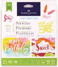 Faber-Castell Mixed Media Stencils - 304 Collection