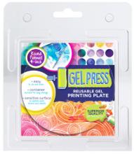 """Gel Press 4"""" Round Reusable Gel Printing Plate"""
