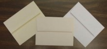 Announcement Envelopes Left to Right: Premium Text Soft-White, Cougar Natural, Cougar White