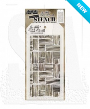 Tim Holtz® Stampers Anonymous Layering Stencils -- Thatched THS104