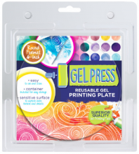 "Gel Press 6"" Round Reusable Gel Printing Plate"
