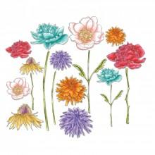 Tim Holtz® Alterations | Sizzix® Framelits™ Die Set 18-Pack - Flower Garden & Mini Bouquet
