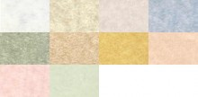 Parchment Cover Row 1: White, Natural, Grey, Blue Row 2: Currency Green (No Longer Available), Aged, Ancient Gold, Sand Row 3: Shell, Celadon