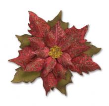 Tim Holtz® Alterations | Sizzix® Bigz™ Die w/Texture Fades - Layered Tattered Poinsettia