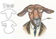 Tim Holtz® Alterations | Sizzix® Framelits™ Die Set 4PK - Hipster Goat