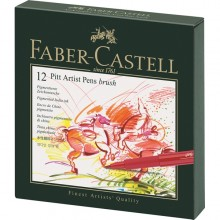 Faber-Castell Pitt Artist Brush Pens - Studio Box of 12