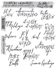 Tim Holtz® Stampers Anonymous Cling Mount Sets -- Mini Handwritten Holidays