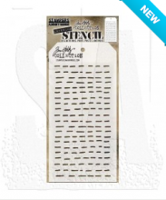 Tim Holtz® Stampers Anonymous Layering Stencils -- Dashes THS101