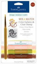Faber-Castell Color Gelatos & Clear Stamp - Neutrals