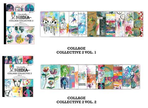 Volume 2 /& Stencil 3 Items Volume 1 Dina Wakley MEdia 2020 Mixed Media Collage Collective 2