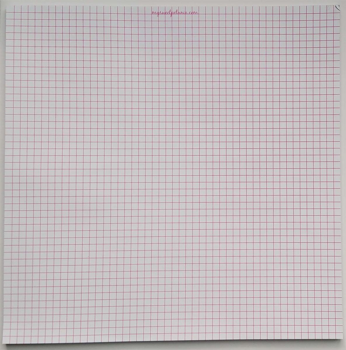 misti memory grid paper pad