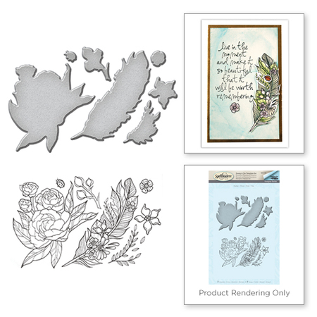 Feather Stamp & Die Set SDS-038 - Marco's Paper
