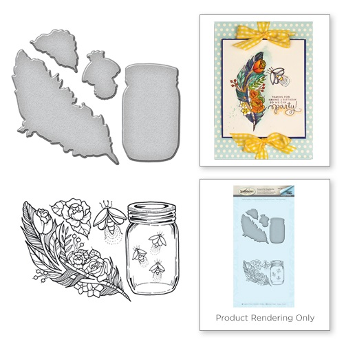Feather Fireflies Stamp & Die Set SDS-060 - Marco's Paper