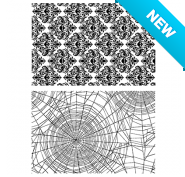 Tim Holtz® Stampers Anonymous Cling Mount Sets -- Skulls & Cobwebs CMS306