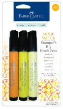 Faber-Castell Mix & Match Stamper's Big Brush Pens - Yellow