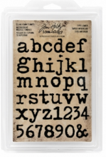 Tim Holtz® Idea-ology™ Cling Foam Stamps: Type Lower