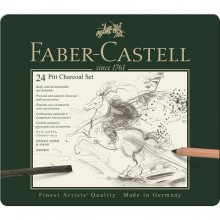 Faber-Castell PITT Charcoal Set - Tin of 24
