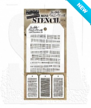 Tim Holtz® Stampers Anonymous Mini Layering Stencil Set #34 MST034