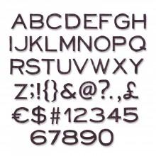 "Tim Holtz® Alterations   Sizzix® Framelits™ Die Set 121-Pack - Alphanumeric, Thin 3/8"" Tall"