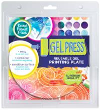 """Gel Press 8"""" Round Reusable Gel Printing Plate"""
