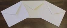 Baronial Envelopes Left to Right: Cougar White, Premium Text Soft-White, Cougar Natural